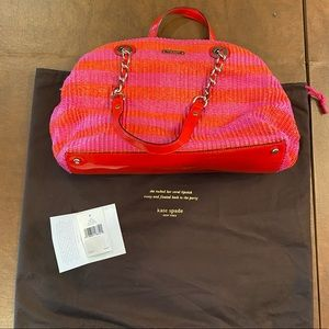 KATE SPADE Pink and Red Wocen Pocketbook